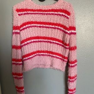 PINK AND RED STRIPED SWEATER